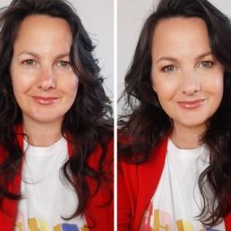 Online make-up workshop voor en na